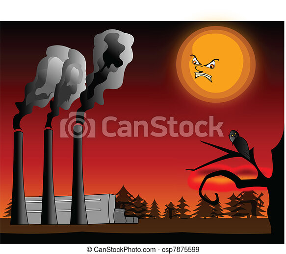 Air pollution - csp7875599