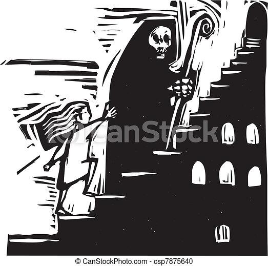 Stairway Death - csp7875640