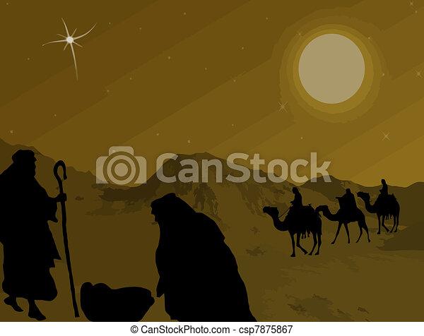 Christmas Nativity scene - csp7875867