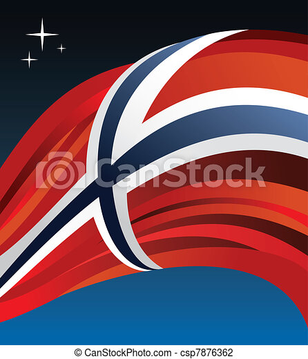 Norway flag vector illustration - csp7876362