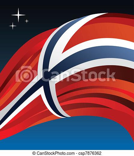 Norway flag vector illustration - csp7876362