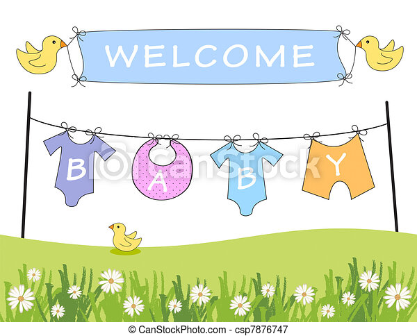 Welcome baby announcement - csp7876747