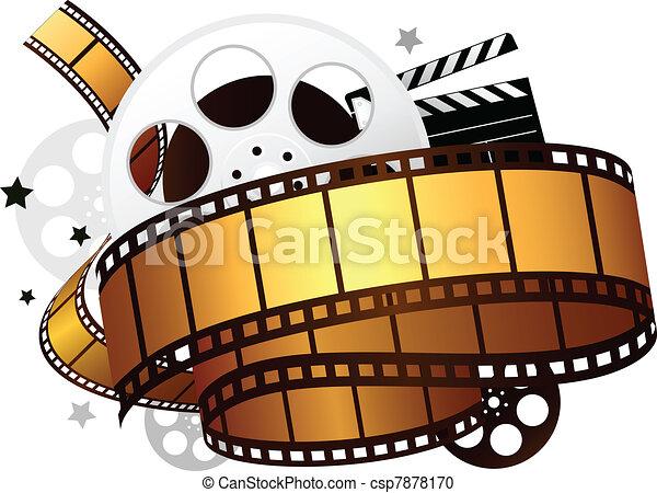 movie design - csp7878170
