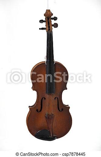 Old antique violin. - csp7878445