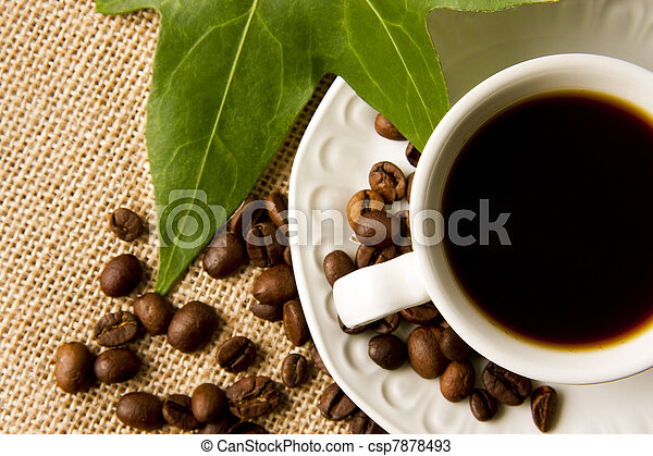 cafe scene, seeds, grains and spices - csp7878493
