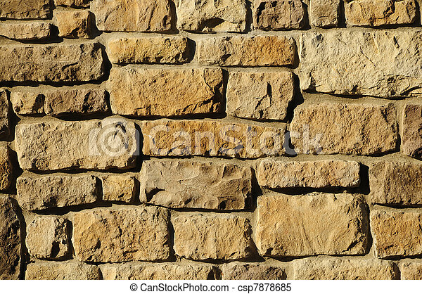 Irregular masonry block wall - csp7878685