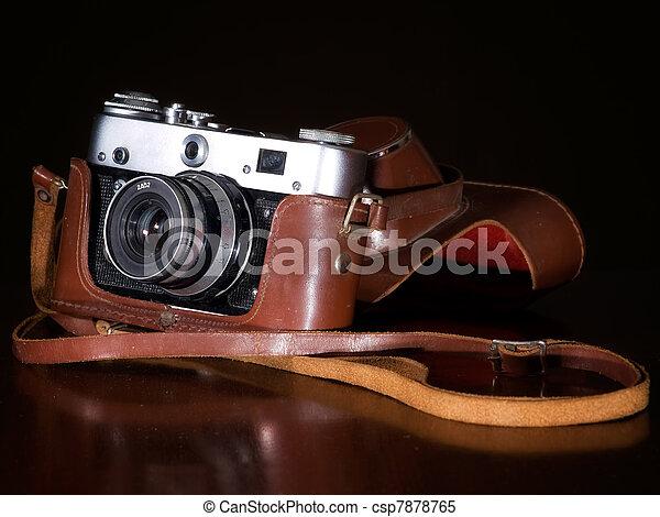 câmera,  retro - csp7878765