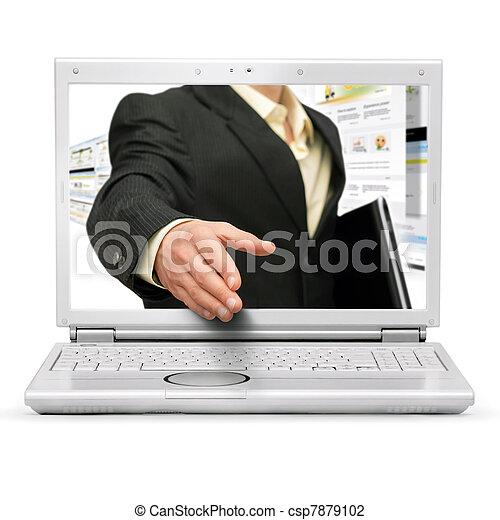 Online business deal - csp7879102