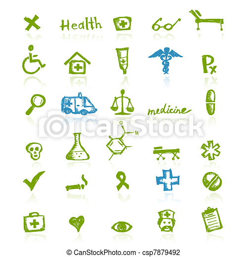 Medical icons for your design - csp7879492