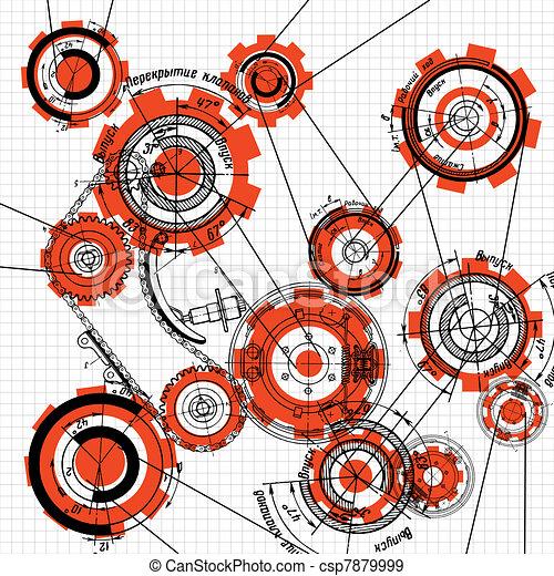 gears and cogwheels - csp7879999