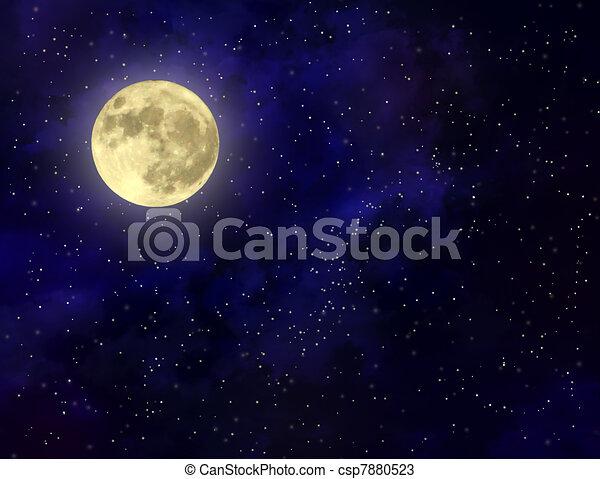 Full moon illustration - csp7880523