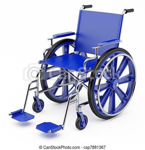 Blue wheelchair - csp7881367
