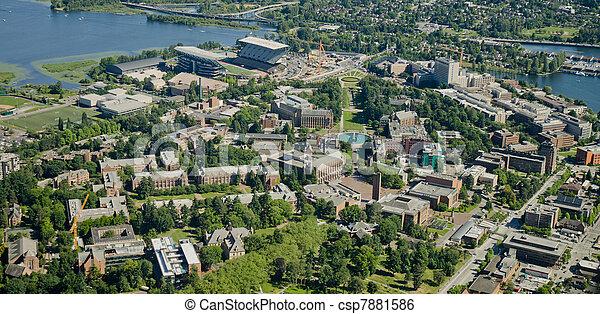 University Campus - Aerial - csp7881586
