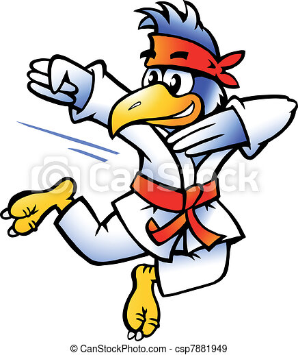 Bird Practices Self-Defense - csp7881949