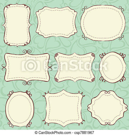 Hand drawn frames - csp7881967