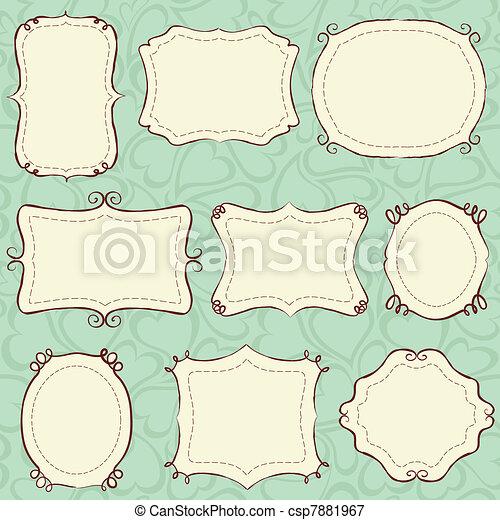 Hand drawn frames - csp7881967