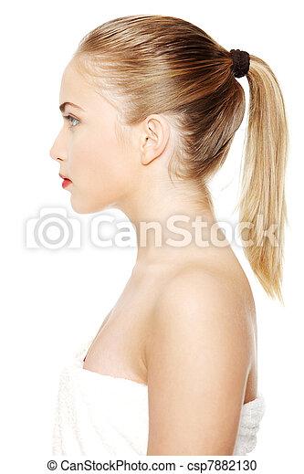 Portrait of a beautiful female mode - csp7882130