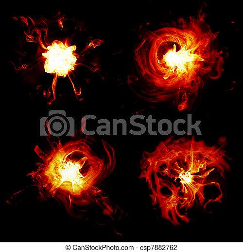 different explosions - csp7882762