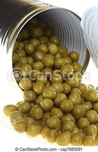 can with canned, tinned peas - csp7883091
