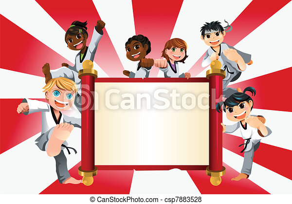 Karate kids banner - csp7883528