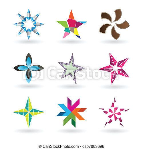 Contemporary Star Icons - csp7883696