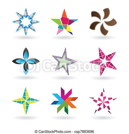 Contemporary Star Icons - csp7883696