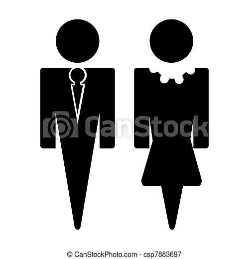 Man and Woman Sign - csp7883697