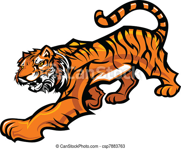EPS Vectors of Vector Image of a Tiger Mascot - Tiger Fighting ...