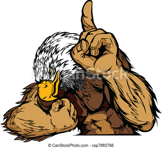 Eagle Mascot Body Vector Cartoon - csp7883766