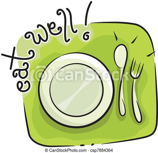 Eat Well - csp7884364