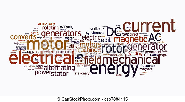 electrical machine text clouds - csp7884415