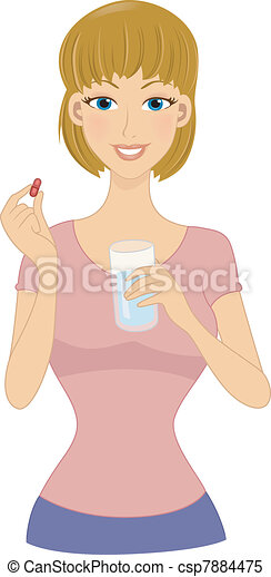 Vitamin Girl - csp7884475