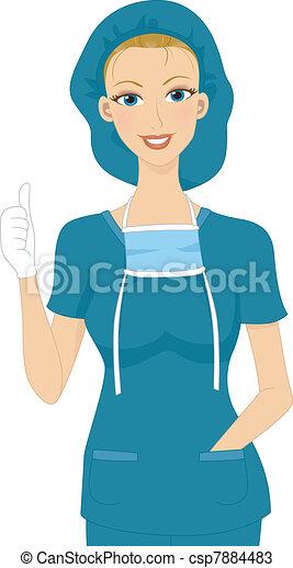Surgeon Thumbs Up - csp7884483