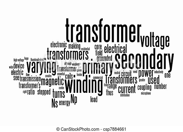 Power Transformer Drawing Power Transformer Text Clouds