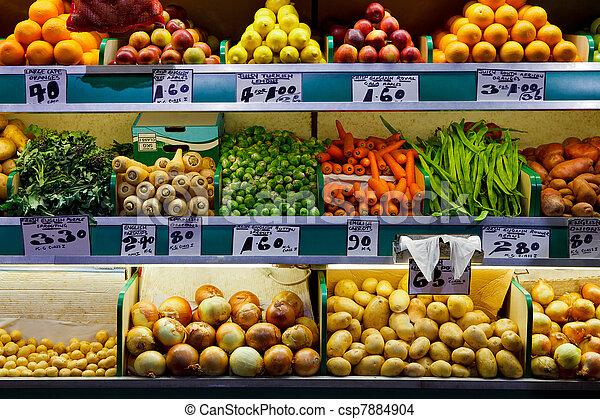 Fresh fruit and vegetables market  - csp7884904