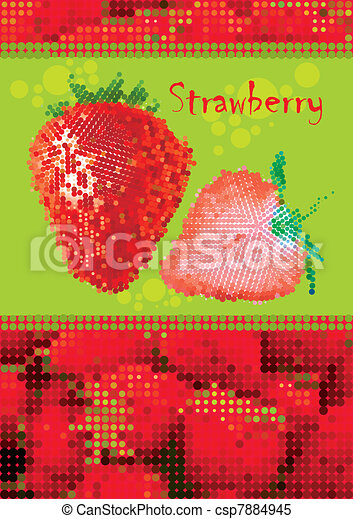 fresh strawberry menu - csp7884945