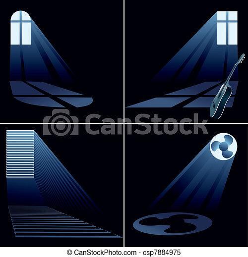 light beams inside window - set - csp7884975