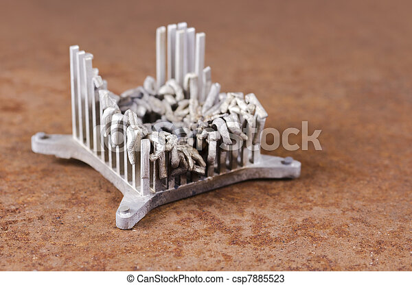 Stock de fotos de aluminio oxidado calor fregadero - Fregaderos de aluminio ...