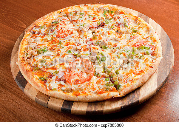 Tasty Italian pizza.Neapolitan - csp7885800