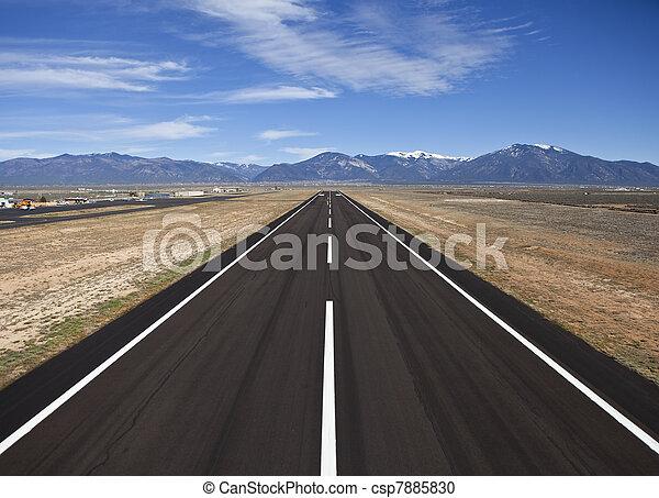 Rural County Airport Runway - csp7885830