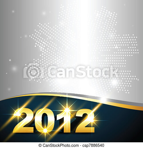 golden new year design - csp7886540