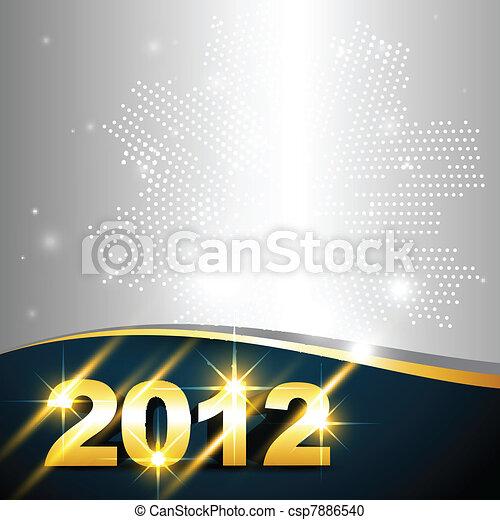 golden new year design - csp7886540