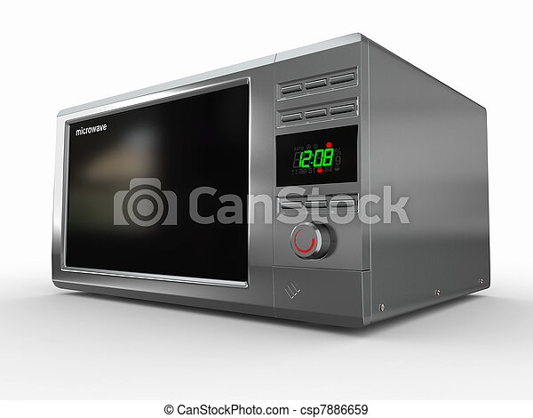 Microwave on white background. 3d - csp7886659