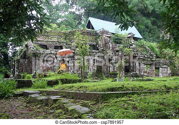 Wat Phu in Laos - csp7891957
