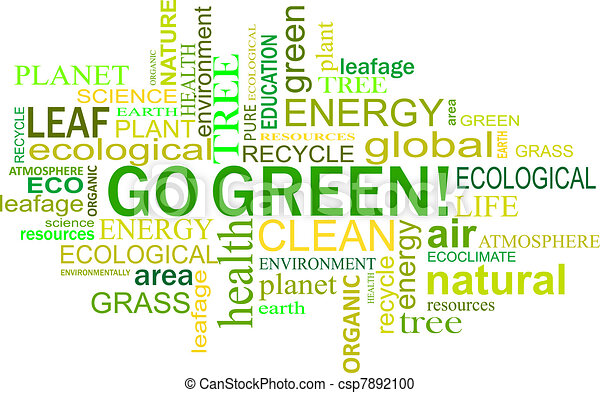 Environment and nature tags cloud - csp7892100