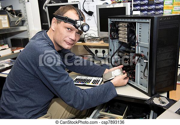 Computer repair shop - csp7893136