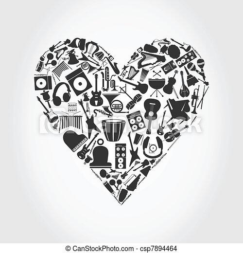 Musical heart - csp7894464