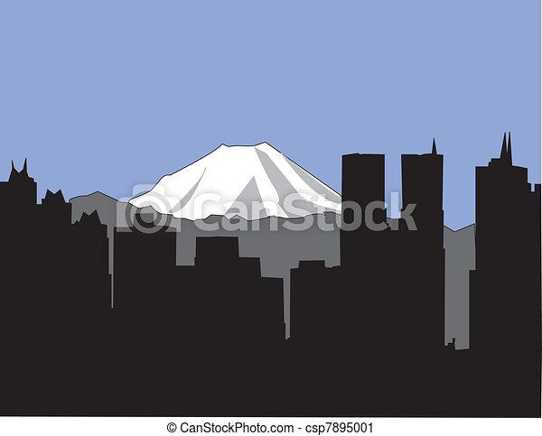 Tokyo Skyline - csp7895001