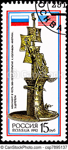 Russia, Christopher Columbus, Discovery America - csp7895137