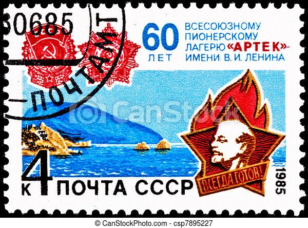 Arctic Pioneer Camp Lenin Anniversary  - csp7895227